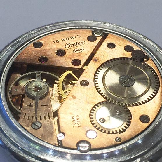 Reloj de bolsillo antiguo Contex antimagnetic - 4