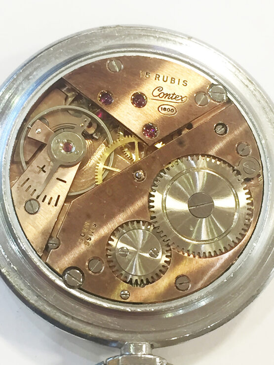 Reloj de bolsillo antiguo Contex antimagnetic - 5