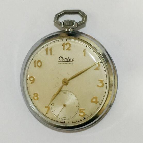 Reloj de bolsillo antiguo Contex antimagnetic